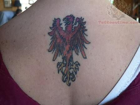 Phoenix tattoo on back neck for Phoenix neck tattoo