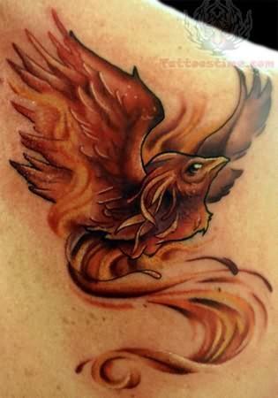 small phoenix tattoo. Black Bedroom Furniture Sets. Home Design Ideas