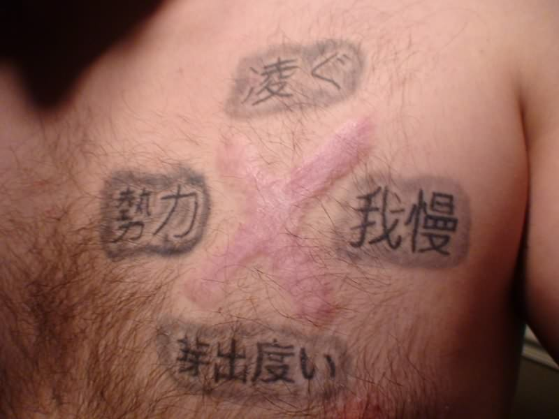 Chinese Chest Tattoo: Chinese Tattoo Images & Designs