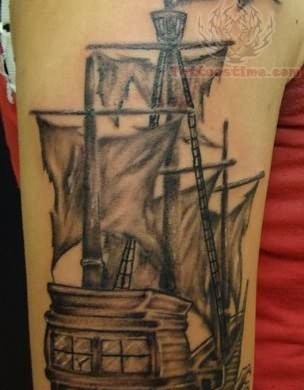 My Pirate Ship Tattoo