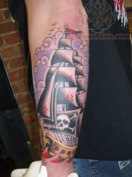 Orrin Pirate Tattoo On Arm