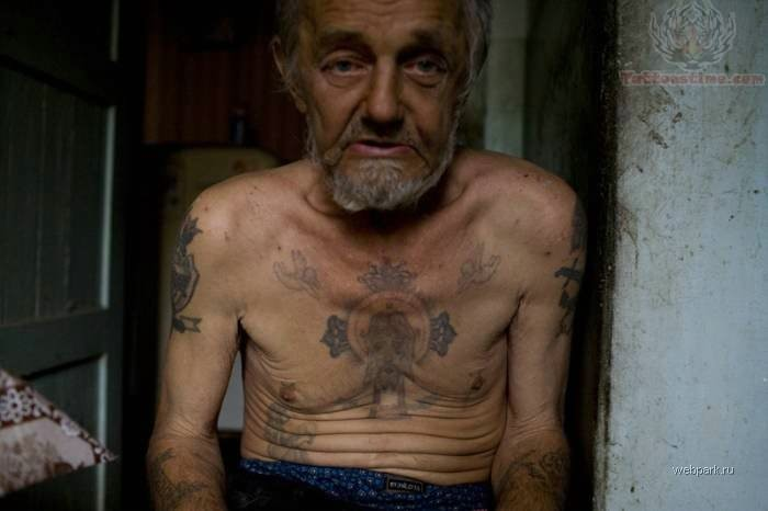 Old Man Prison Tattoo