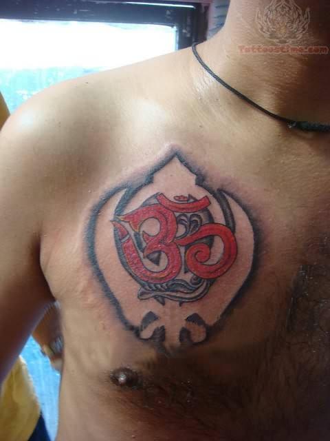 Religious Punjabi Tattoos On Chest
