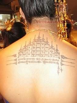 Awesome Buddhist Temple Tattoo