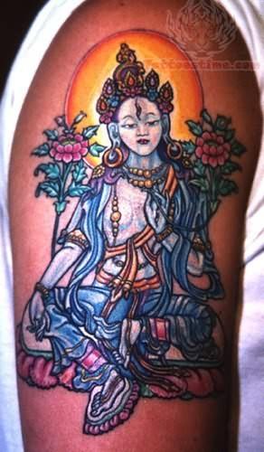 buddhist monk tattoos. Black Bedroom Furniture Sets. Home Design Ideas