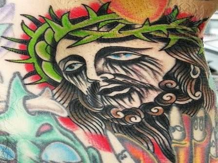 jesus crying tattoo. Black Bedroom Furniture Sets. Home Design Ideas