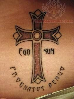 Christian tattoos for Elegant cross tattoo designs
