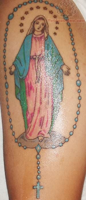 Rosary Mary Tattoo