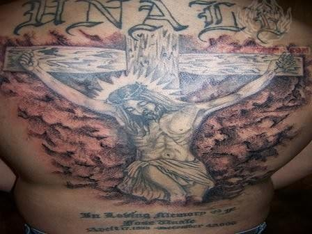 Religious tattoo images designs for Jesus back tattoos