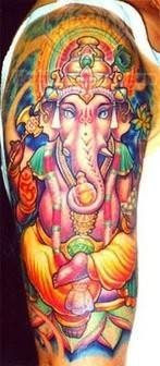 Ganesha Tattoo On Shoulder
