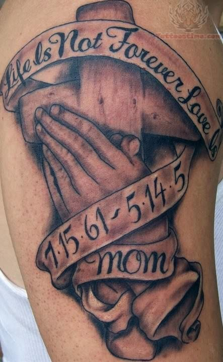 Memorial Praying Hands Tattoo