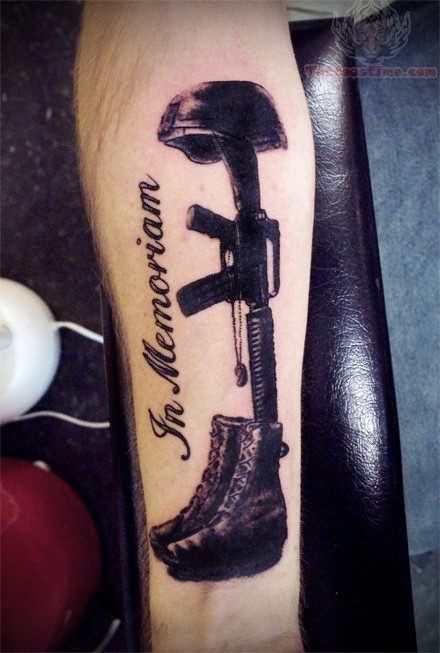 Militry Rememberence Tattoo