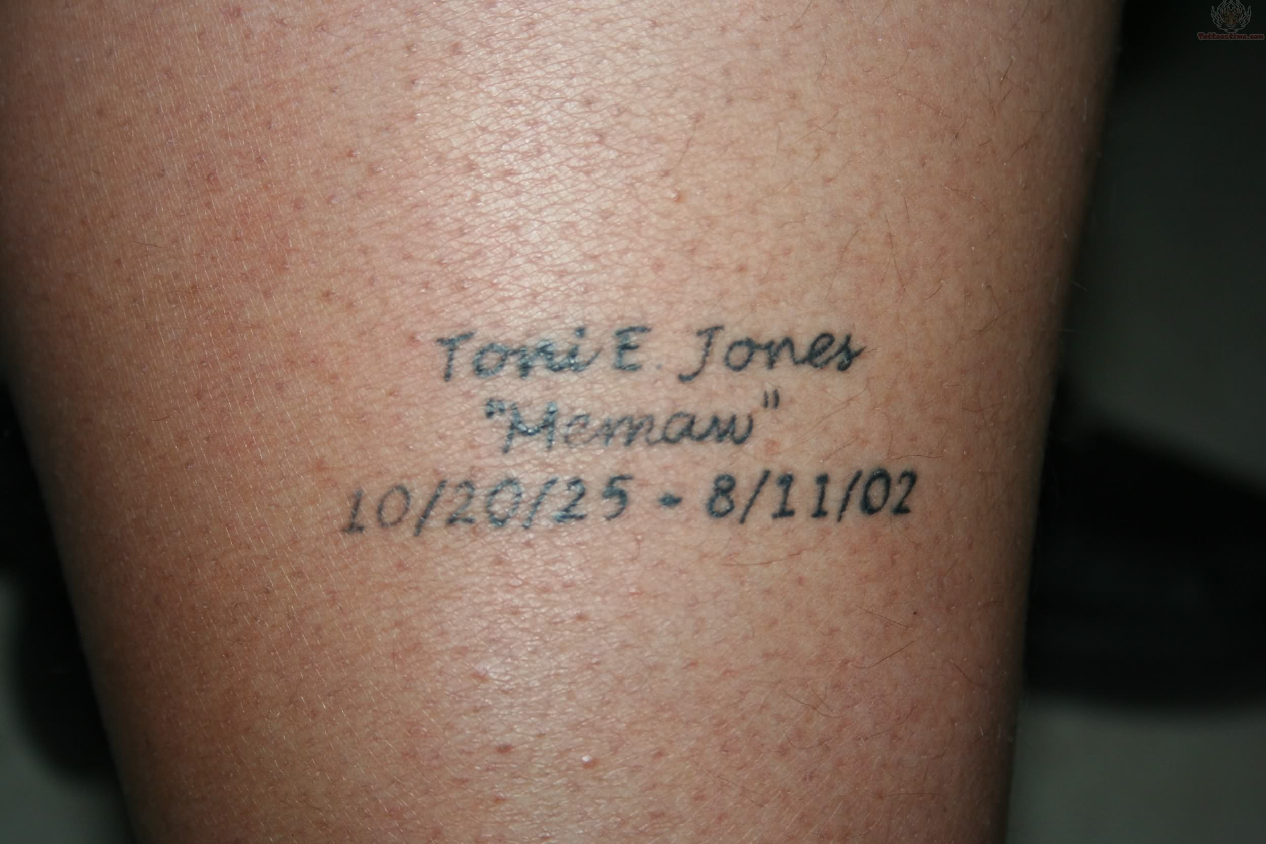Rememberence Tattoo