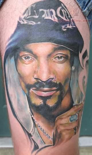 Thug Life Portrait Tattoo