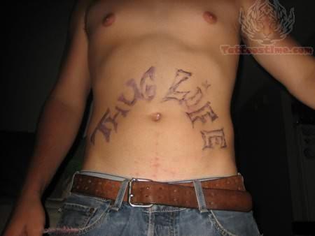 Thug Life tattoo For Men