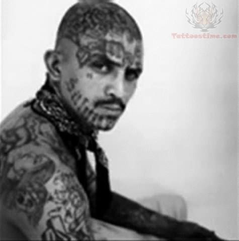 Thug Life Tattoo On Full Body