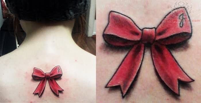 Little Ribbon Bow Tattoo
