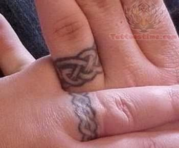 Celtic Wedding Ring Tattoo