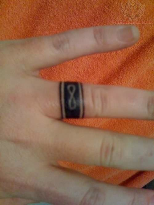 Ring Finger Infinity Tattoo