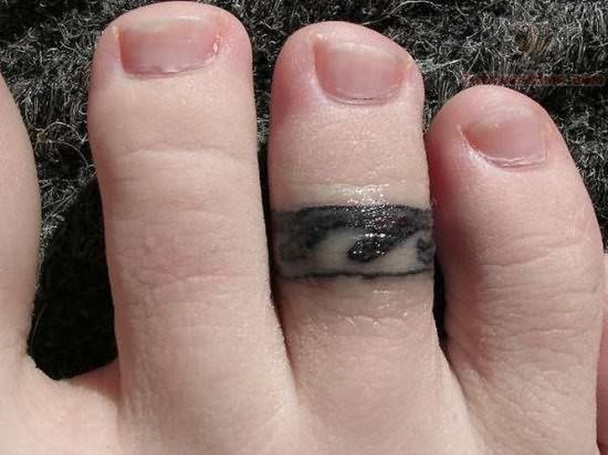 Ring Tattoo on Foot