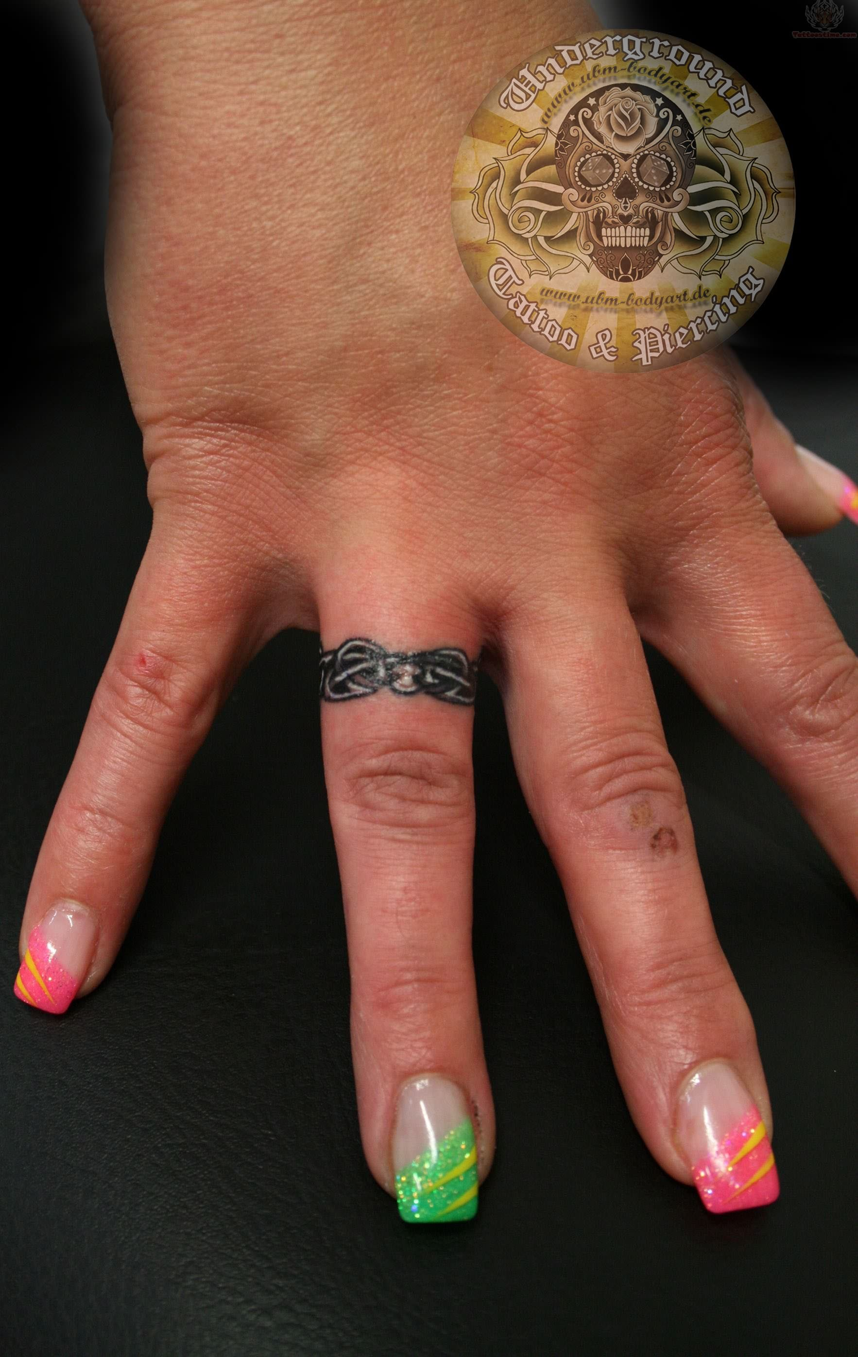 Tattoos On Ring Fingers