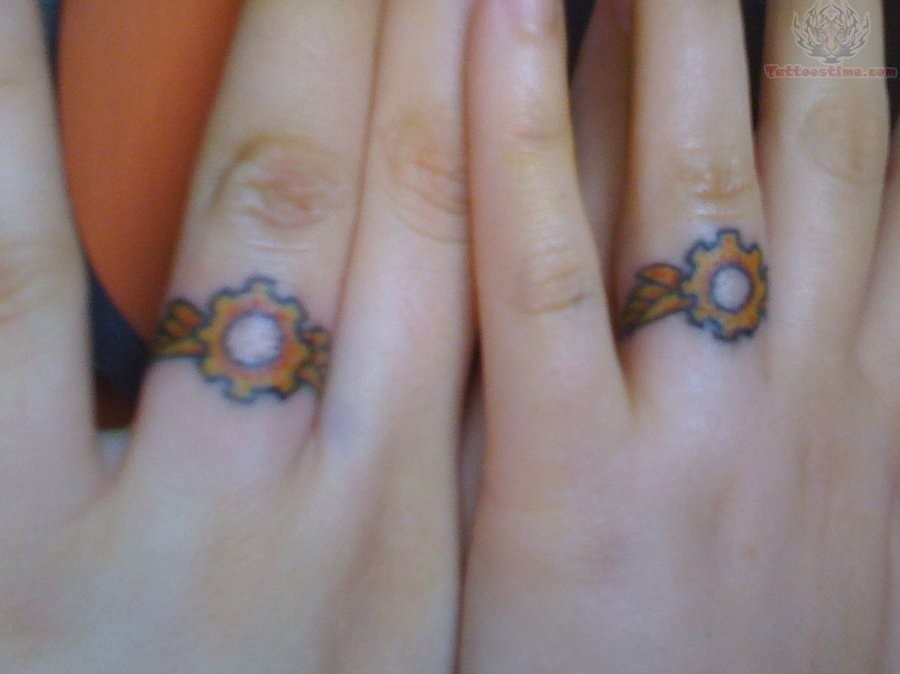 Steampunk Wedding Ring Tattoos