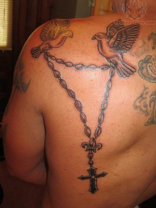 Rosary Tattoo Designs for Men