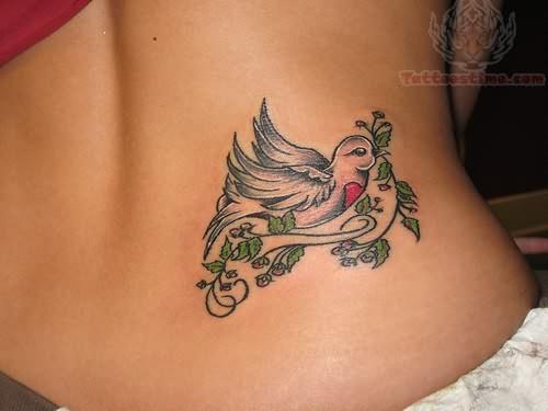 thigh tattoo tribal around Bird Cute Rosary Tattoo