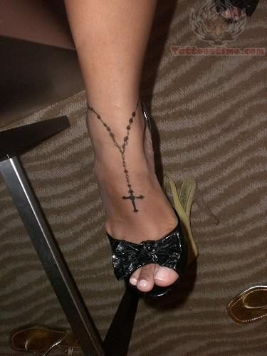 Tattoo Design Of Rosary