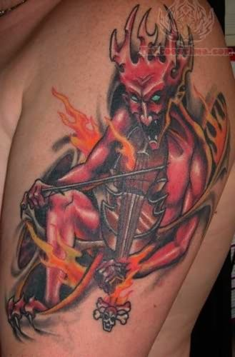 Gerry Carnelly Fiddle Satan Tattoo