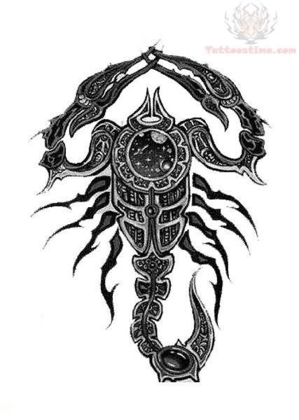 scorpion black tattoo design. Black Bedroom Furniture Sets. Home Design Ideas