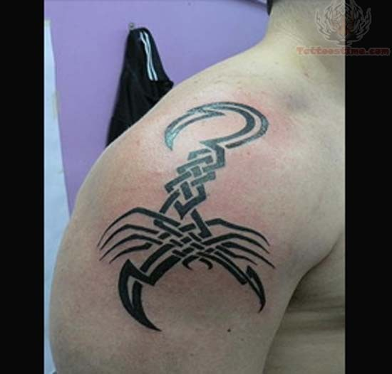 Tribal Scorpion Tattoo Design For Men