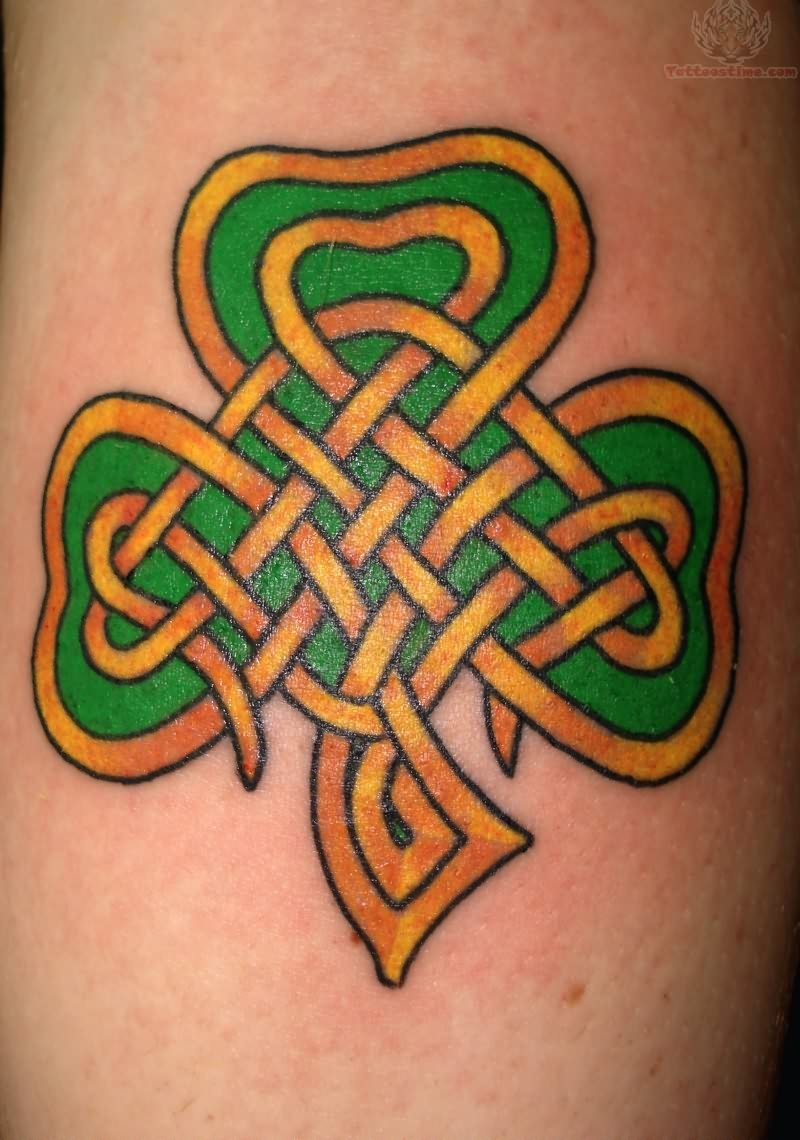 Celtic Cross With Shamrock Amazing celtic shamrock tattoo