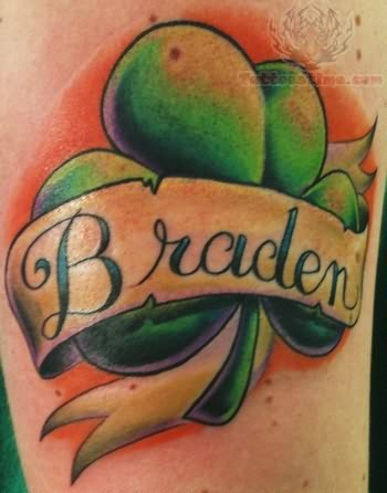 Braden Shamrock Tattoo