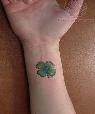 Four Leaf Clover Tattoo On Wrist
