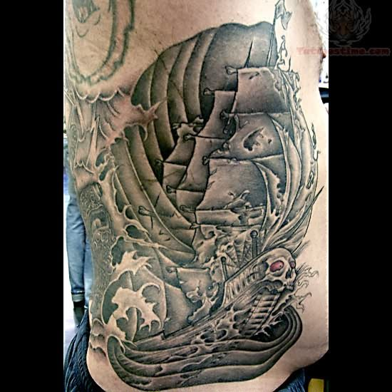 ghost ship tattoo. Black Bedroom Furniture Sets. Home Design Ideas