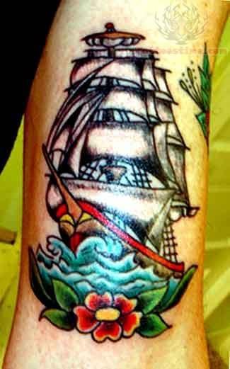 Kevin Tall Ship Tattoo
