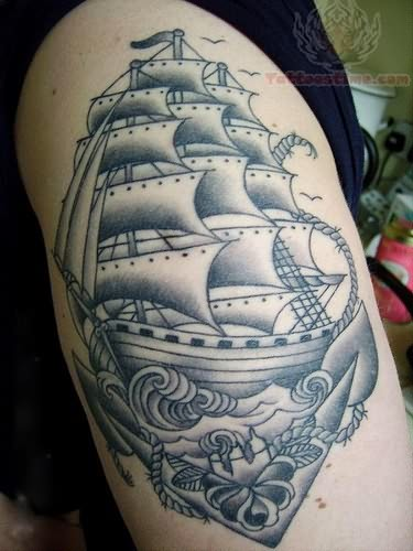 Pirate Traditional Ship Tattoo Traditional Pirate Tattoo Sleeve