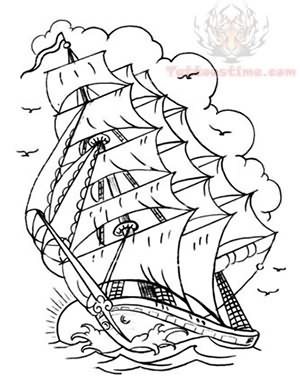 Ship Tattoo Pattern Collection