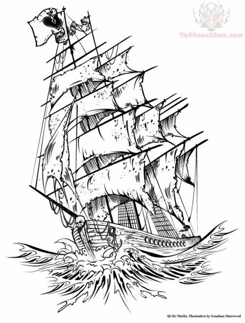 Tumblr Ship Tattoo Design