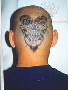 e395bbf9c Skull Tattoo On Back Head