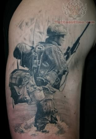war soldier tattoo. Black Bedroom Furniture Sets. Home Design Ideas