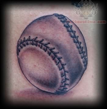 Baseball Tattoo Image