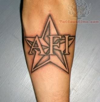 big afi star tattoo. Black Bedroom Furniture Sets. Home Design Ideas