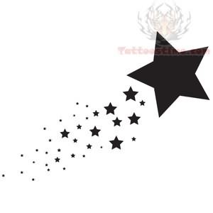 White Ink Christian Wrist Tattoos Big Star And Small Sta...