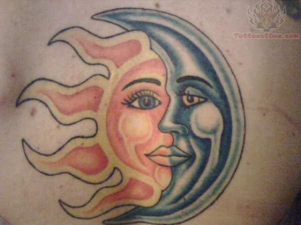 Black moon and sun tattoo for Black moon tattoo