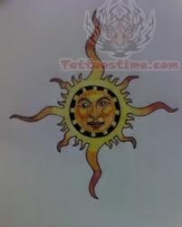 Sun Tattoo Drawing