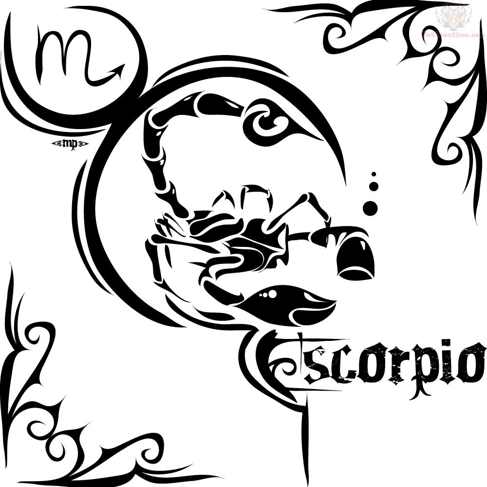 Tribal zodiac sign tattoo scorpio for Tattoo horoscope signs