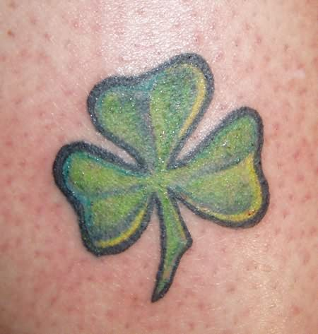 3 leaf clover tattoos