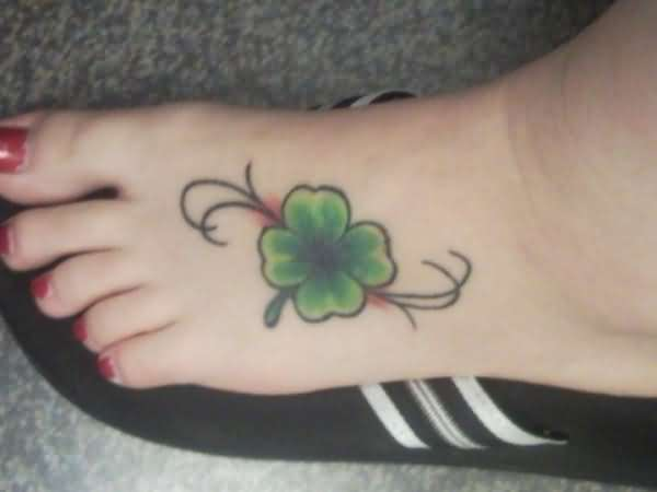 Lucky Four Leaf Clover Tattoo